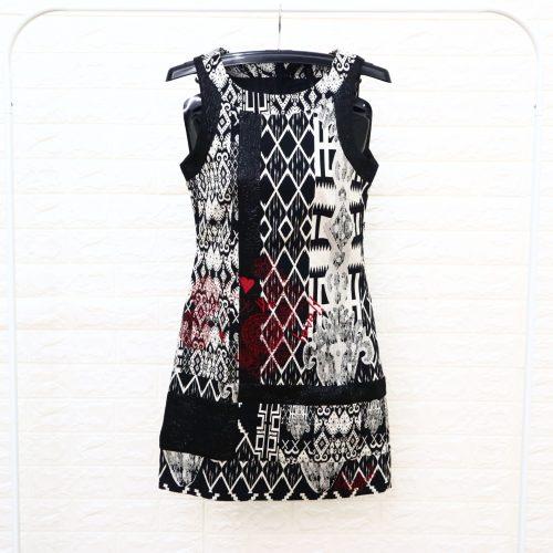 Desigual Dress Wanita Hitam Motif 36
