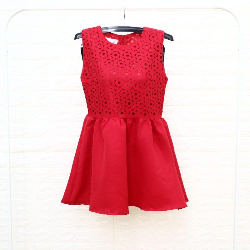 Jrep Dress Wanita Merah
